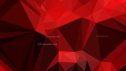 Cool Red Polygon Background Design Vector
