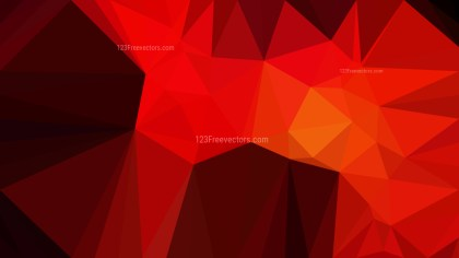 Cool Red Polygon Triangle Pattern Background Vector Art