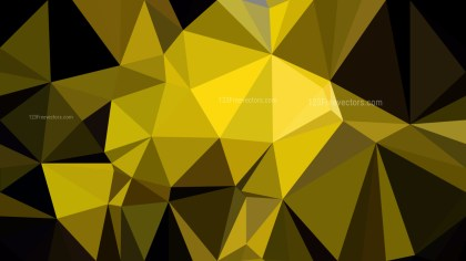 Cool Yellow Polygon Abstract Background