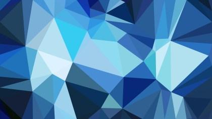 Dark Blue Polygonal Abstract Background