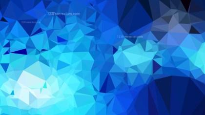 Dark Blue Geometric Polygon Background Vector