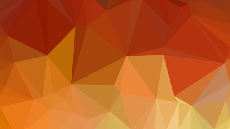 Dark Orange Polygon Background