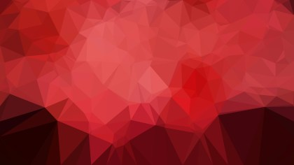 Dark Red Low Poly Abstract Background