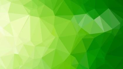 Green Polygonal Triangle Background