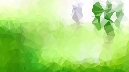 Green and White Polygon Pattern Background Vector Art