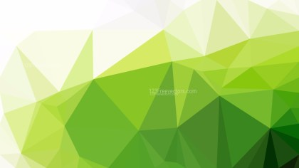 Green and White Low Poly Background Template Design