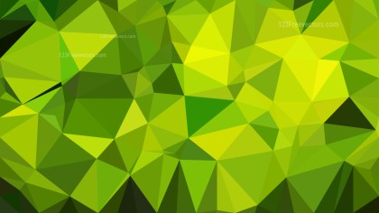 Abstract Green and Yellow Polygon Background
