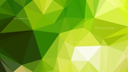 Abstract Green and Yellow Low Poly Background Design