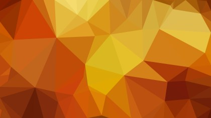 Orange Polygon Abstract Background