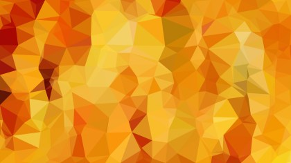 Abstract Orange Polygon Triangle Background