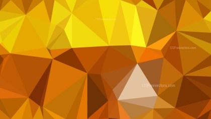 Orange Polygon Abstract Background Illustrator