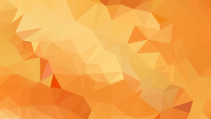 Orange Polygon Pattern Abstract Background