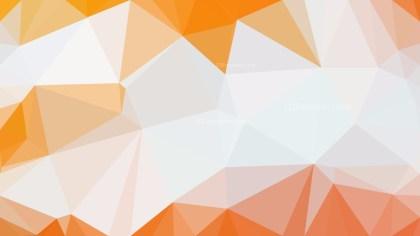 Orange and White Polygonal Background Design Image