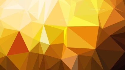 Abstract Orange and Yellow Low Poly Background Template Vector Graphic