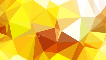 Orange and Yellow Low Poly Abstract Background Vector