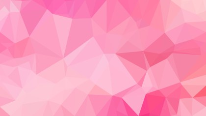 Abstract Pink Polygon Background Template Design