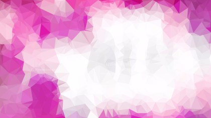 Pink and White Polygonal Background