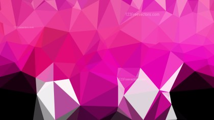 Abstract Pink Black and White Polygonal Background Template Illustrator
