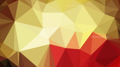Red and Gold Polygonal Background