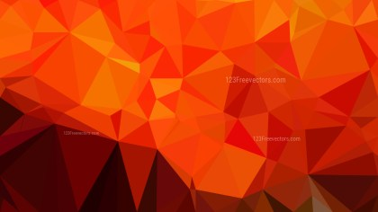 Red and Orange Low Poly Background Design