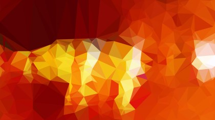 Red and Yellow Polygon Abstract Background