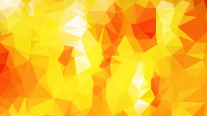 Red and Yellow Geometric Polygon Background