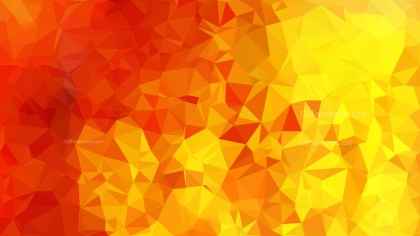 Red and Yellow Polygon Triangle Pattern Background