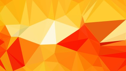 Red and Yellow Polygonal Abstract Background Vector Art
