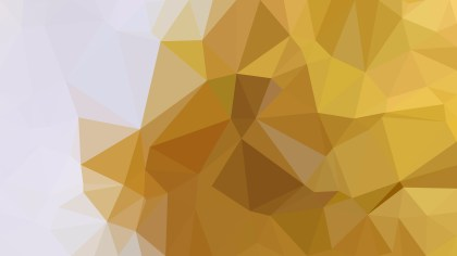 White and Gold Low Poly Background Image