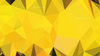 Abstract Yellow Polygonal Background Design Vector Image