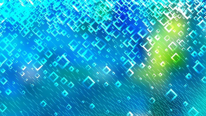 Abstract Blue and Green Square Background