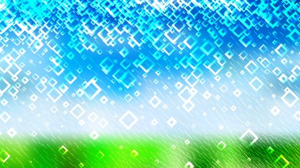 Blue Green and White Modern Square Abstract Background Illustration