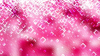 Pink and White Squares Abstract Background