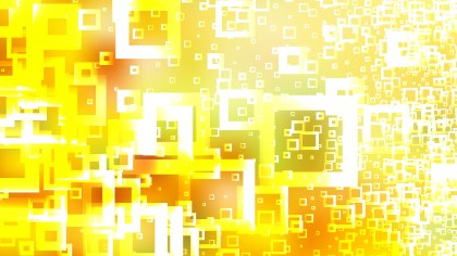 Abstract Yellow and White Modern Square Background Vector Image