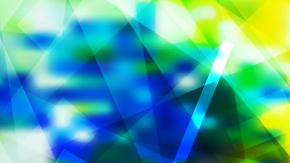 Abstract Geometric Blue Green and Yellow Background Image