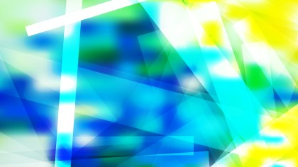 Abstract Blue Green and Yellow Modern Geometric Background Illustrator
