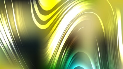 Abstract Black Green and Yellow Background Vector