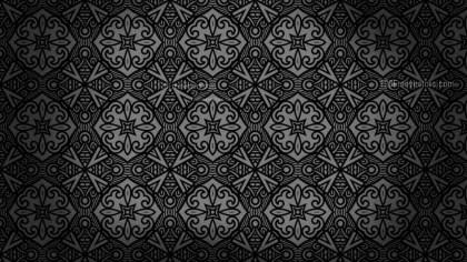 Black Vintage Seamless Ornament Background Pattern Graphic