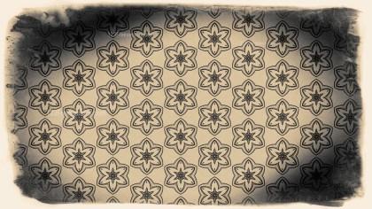Vintage Decorative Floral Ornament Pattern Background Design