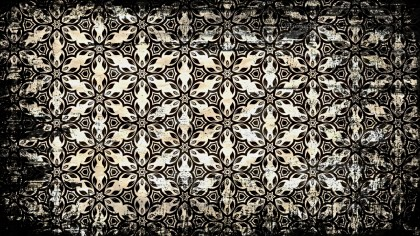 Vintage Grunge Floral Ornament Background Pattern Graphic