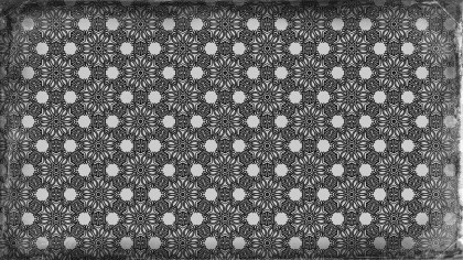 Black and Gray Vintage Floral Ornament Wallpaper Pattern Graphic