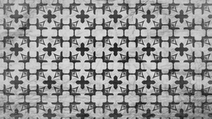 Black and Gray Decorative Geometric Seamless Wallpaper Pattern