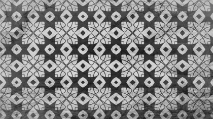 Black and Gray Geometric Ornament Background Pattern