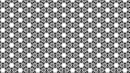 Black and White Floral Seamless Pattern Background Design