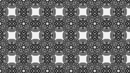 Black and White Ornamental Pattern Background