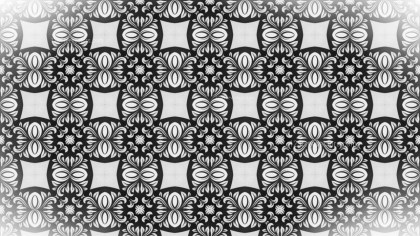 Black and White Decorative Ornament Background Pattern