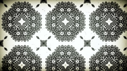 Black and White Vintage Ornamental Pattern Background