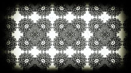 Black and White Vintage Seamless Ornamental Pattern Background