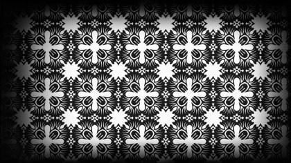 Black and White Vintage Decorative Ornament Wallpaper Pattern