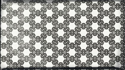 Black and White Vintage Seamless Ornament Wallpaper Pattern Design Template